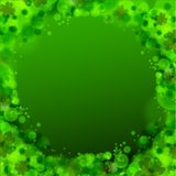 St. Patrick's day background in green colors. Vector illustration Royalty Free Stock Photos
