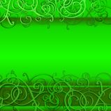 St. Patrick's day background in green colors. Stock Images