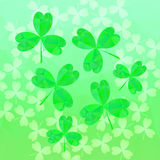 St. Patrick's day background. In green colors. Vector illustration Royalty Free Stock Images
