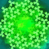 St. Patrick's day background. In green colors. Vector illustration Stock Photo