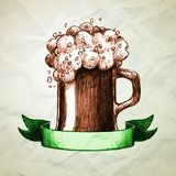 St. Patrick's Day background with hand drawn Royalty Free Stock Images