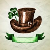 St. Patrick's Day background with hand drawn Royalty Free Stock Photos