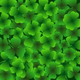 St.Patrick`s day background, 17 March Lucky Day, green leaves. Vector illustration Royalty Free Stock Images