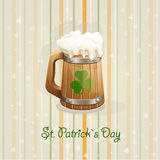 St. Patrick's Day background with a mug-EPS10. St. Patrick's Day background with a mug Stock Photo
