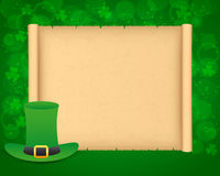 St Patricks day background with parchment Royalty Free Stock Image