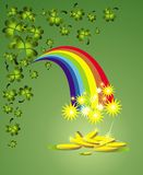 St.Patrick's day background with rainbow Stock Images
