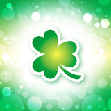 St. Patrick's Day Background. St. Patrick's Day shamrock green background Stock Photography