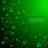 St. Patrick`s Day background with shamrock Stock Photography