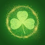 St Patrick`s Day background with shamrock. Shape vector illustration