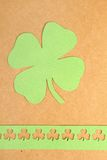 St. Patrick's Day. Background for St. Patrick's Day. Silhouettes of green clover royalty free stock photography