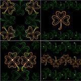 St.Patrick `s Day. 4 Background of tiles. patterns royalty free illustration