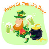 St.Patricks Day background. Vector illustration Stock Photos