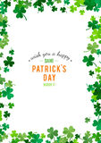 St Patrick's Day background. Vector illustration Royalty Free Stock Photography