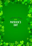 St Patrick's Day background. Vector illustration Stock Photos