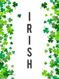 St Patrick's Day background. Vector illustration Stock Photography