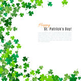 St Patrick's Day background. Vector illustration Stock Photo