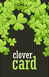 St Patrick's Day background. Vector illustration for lucky spring design with shamrock. Green clover border and square Stock Photos