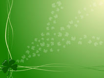 St. Patrick's Day backround. Green and four-leaved clovers St. Patricks Day backround royalty free illustration