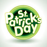St. Patricks Day Badge Stock Photography