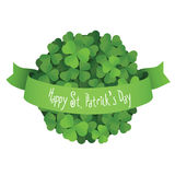 St. Patrick's Day ball made of shamrock leaves with ribbon Royalty Free Stock Photography