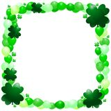 St. patrick's day balloon border Royalty Free Stock Photos