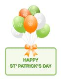 St. Patrick's day balloons Royalty Free Stock Photos