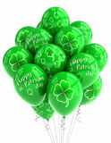 St. Patrick's Day balloons. Over white background Stock Images