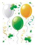 St.Patrick's Day balloons and clovers. Stock Photography