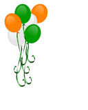 St Patrick's day balloons isolated Royalty Free Stock Photo