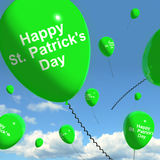 St Patrick's Day Balloons Showing Irish Party Royalty Free Stock Photography