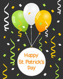 St. Patrick s Day Balloons and Streamers Royalty Free Stock Photography