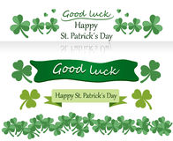 St patrick´s day. St patrick´s day banner set with clovers Royalty Free Stock Images