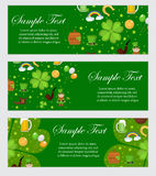 St. Patrick`s Day banner template for your design. Horizontal Border set. Vector illustration. St. Patrick`s Day banner template for your design. Horizontal vector illustration