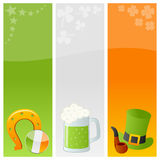 St. Patrick s Day Banners [4]. Set of three vertical St. Patricks or Saint Patrick s Day banners. Eps file available Stock Images