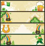 St. Patrick's Day banners Stock Images