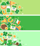 St. Patrick's Day banners Royalty Free Stock Photo