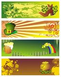 St. patrick\'s day banners with pot of gold Stock Photo