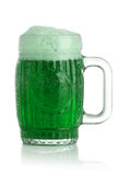 St. Patrick's Day beer. St. Patrick's Day green beer Stock Images
