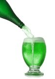 St. Patrick's Day beer. Pouring St. Patrick's Day green beer Stock Image