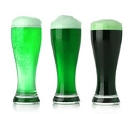 St. Patrick's Day beer. St. Patrick's Day green beer Stock Photography