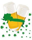 St. Patrick's Day Beer. Vector illustration Royalty Free Stock Photos