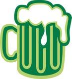 St. Patrick`s Day beer green. Vector stock illustration