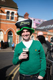 St Patrick`s Day. Birmingham,West Midlands,UK:13th March 2016.Thousands lined the streets from Digbeth to the city centre,celebrating the patron St Of the Irish Stock Images