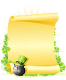 St. Patrick's Day blank Letter Stock Images