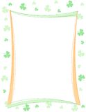 St. Patrick's day border. Green clover st. Patrick's Day Background / Border / frame stock illustration