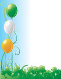 St. Patrick's day border Royalty Free Stock Images