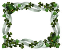 St Patrick's Day Border  Stock Images