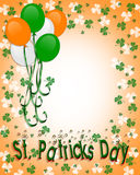 St Patrick's day Border Balloons Stock Image