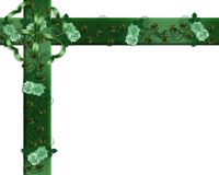 St Patrick's Day Border Irish rose Stock Photos