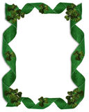 St Patrick's Day Border ribbons Stock Images